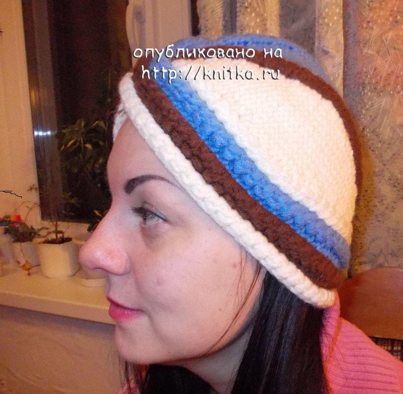 вязаная шапка - чалма