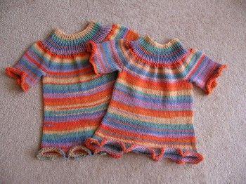 Летний топ для девочки. Вязание спицами.
