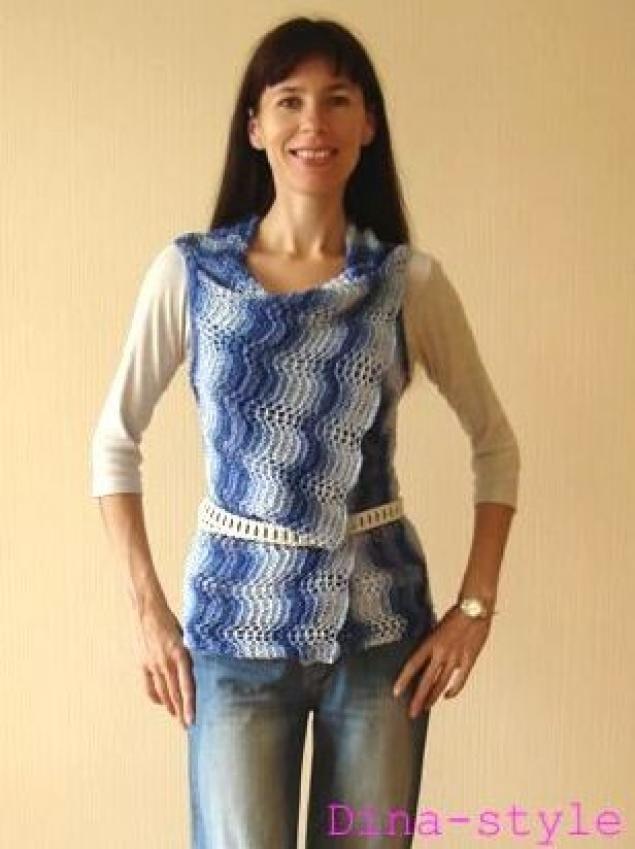 ...из журнала Let`s knit series 80026 связан из 215г Порядок и направление вязания показаны на схеме.
