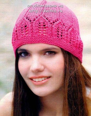 Модная ажурная летняя шапочка