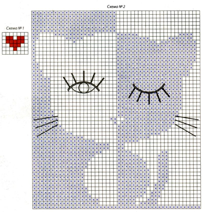 Кот связанный спицами по схеме