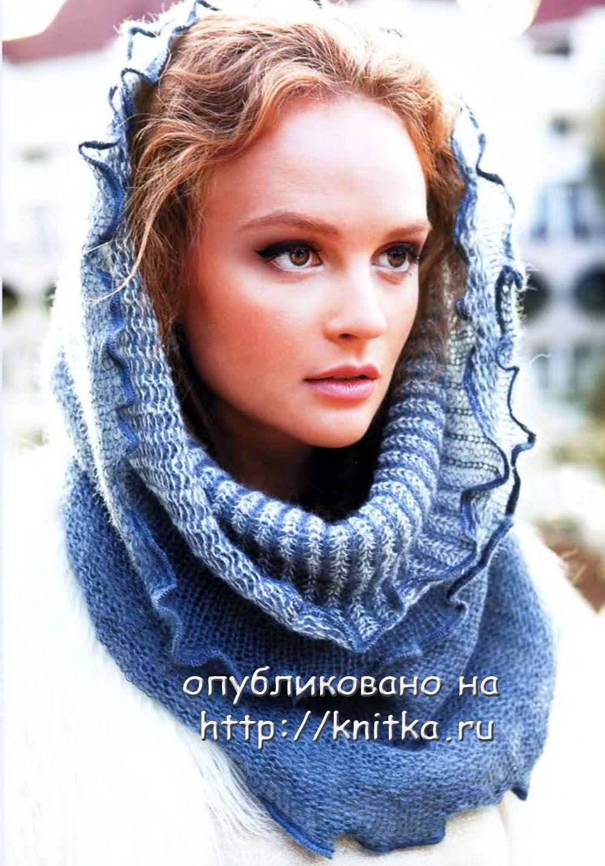 вязаные шарфы снуды схема и описание