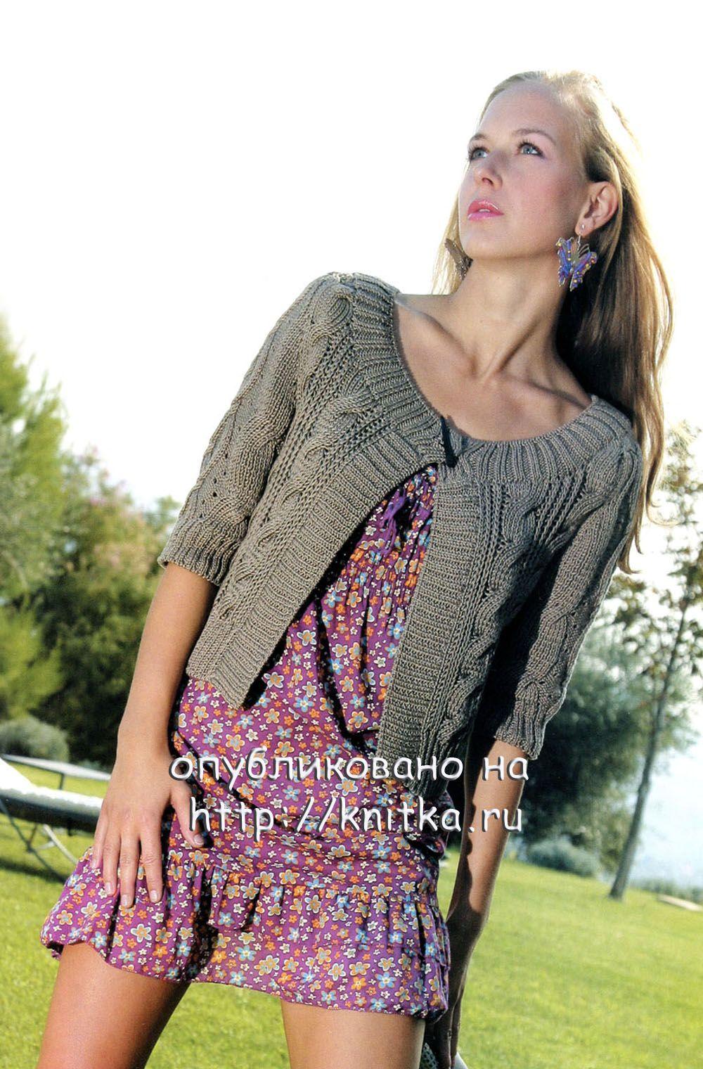 Вязаный женский жакет спицами схемы вязания - Фасон.
