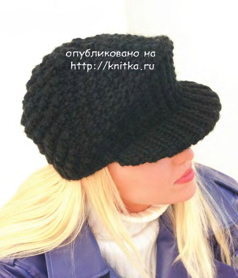 вязаная спицами кепка фуражка вязание для женщин