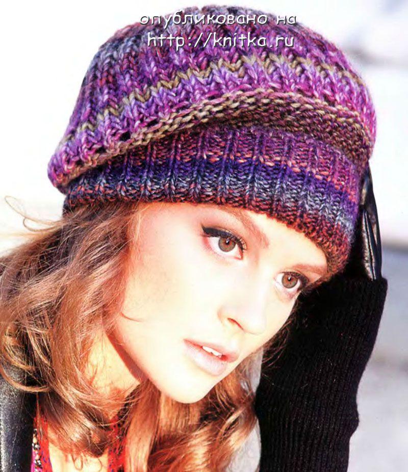 вязание беретов и шапок спицами
