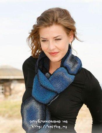 шарф из шестиугольников