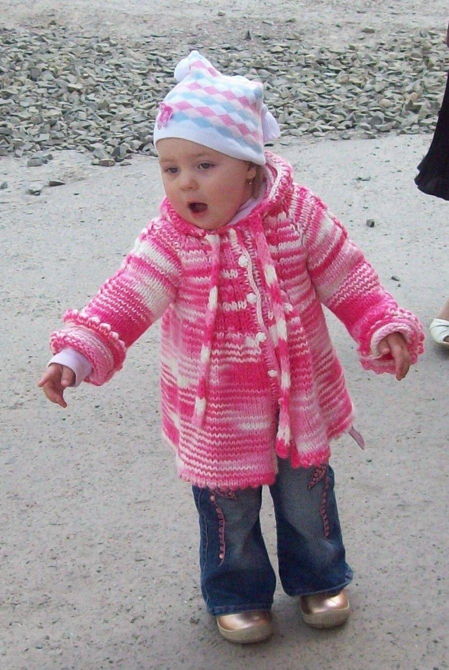 Вязание детского пальто реглан