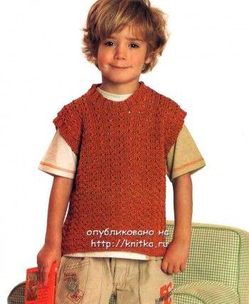 Безрукавка для мальчика спицами. Вязание спицами.