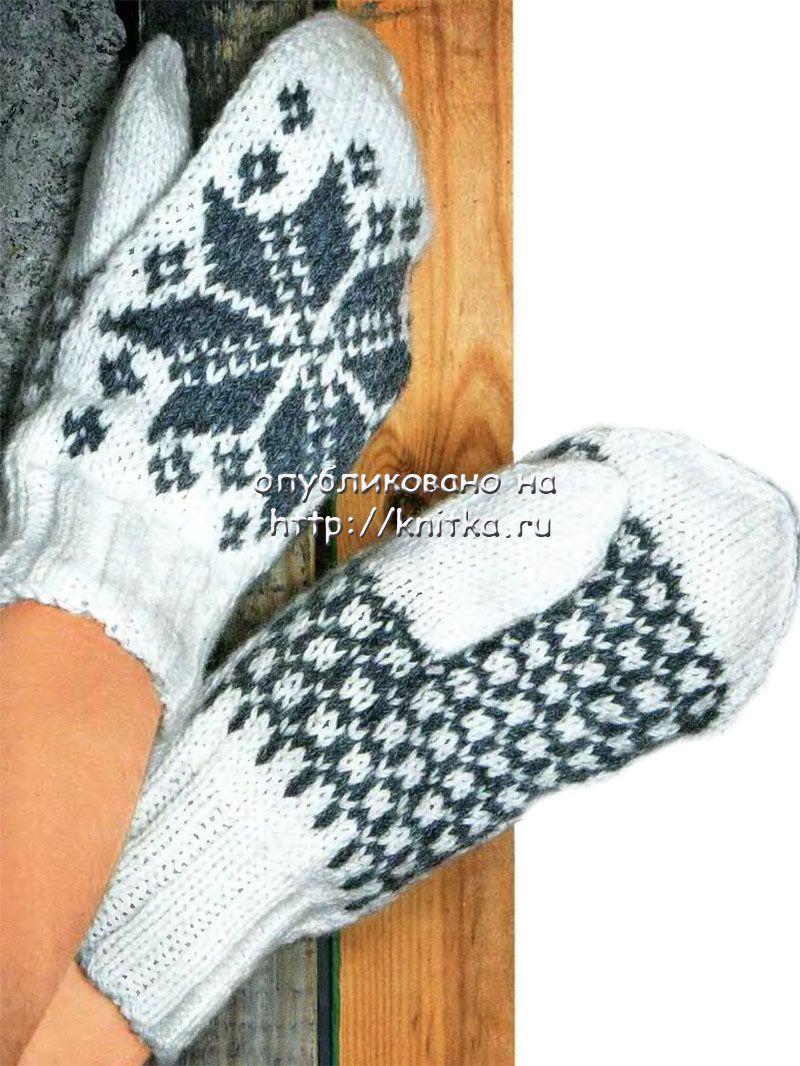 схемы вязания варежек с красивыми рисунками спицами
