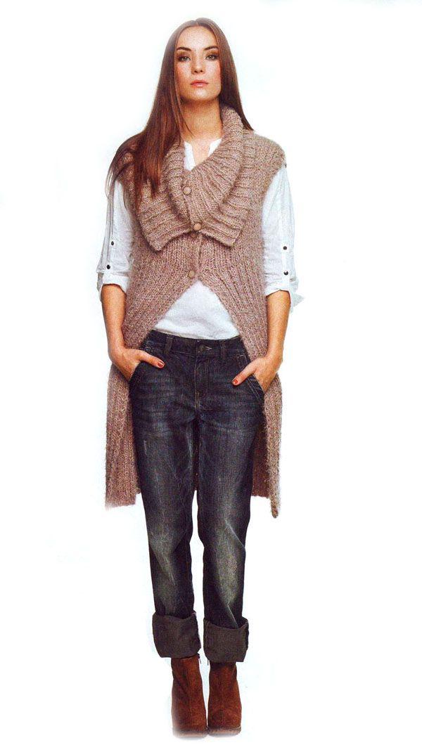 Вязание спицами фото модных жилетов