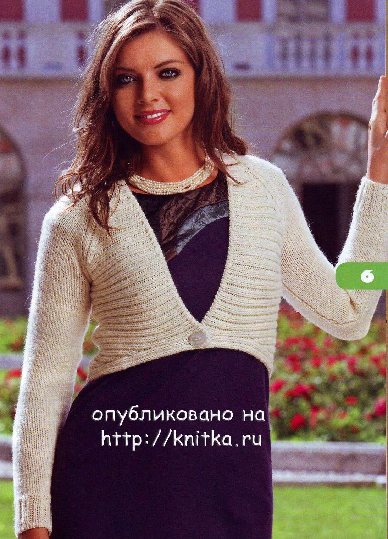 белое болеро спицами вязание для женщин