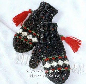 варежки вязание спицами