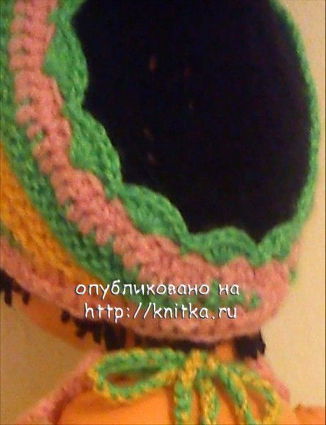 фото вязаной полоски на голову.