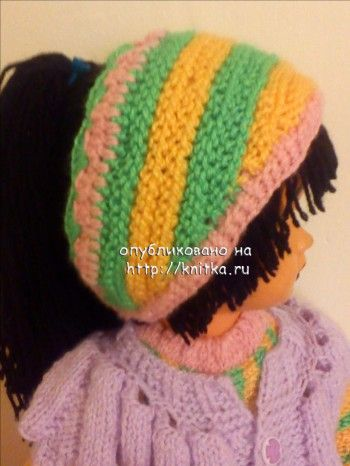 фото вязаной полоски на голову