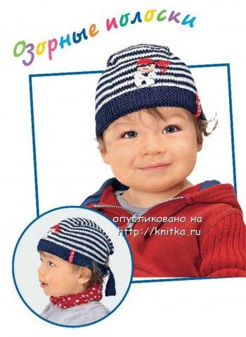 фото шапочки, связанной спицами