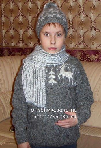 Комплект с оленями для мальчика