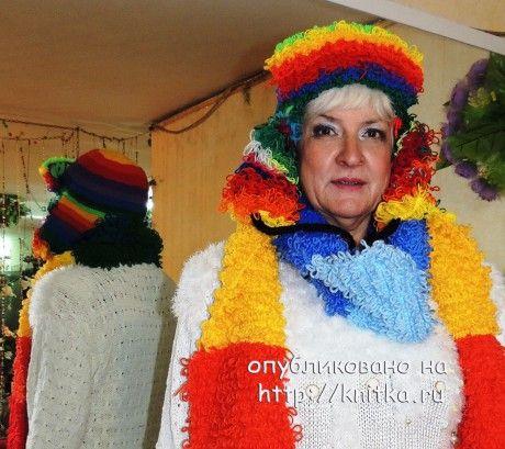 фото вязаной шапочки и шарфа