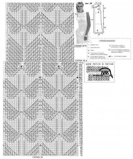 Вязаное летнее платье спицами схема