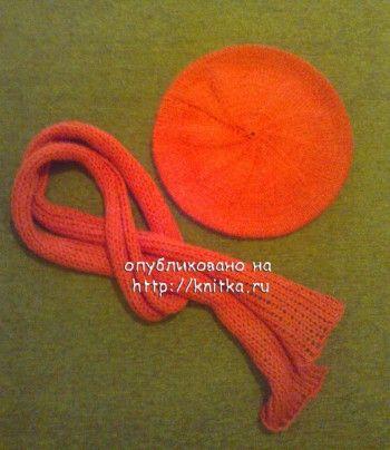 берет и шарф для девочки фото