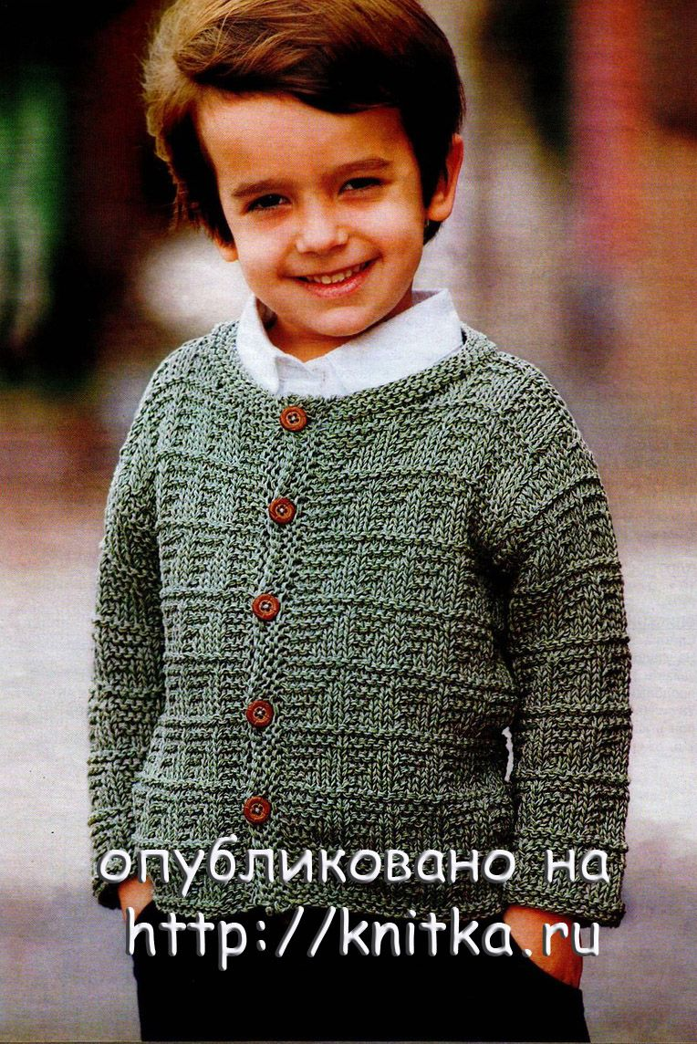 Детские схемы вязания спицами для мальчика