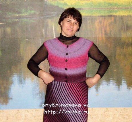 фото кофты и юбки спицами