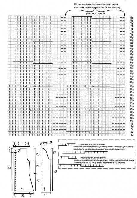 Монохромный жакет, связанный спицами схема