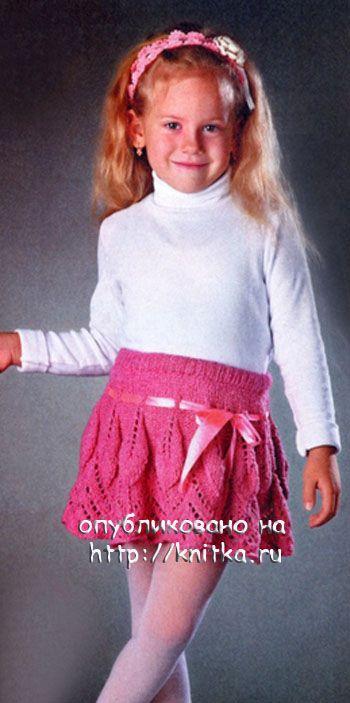 Юбка для девочки, связанная спицами. Вязание спицами.