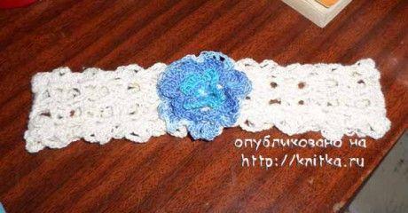фото вязаной повязки