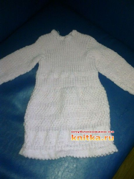 вязаное спицами платье фото