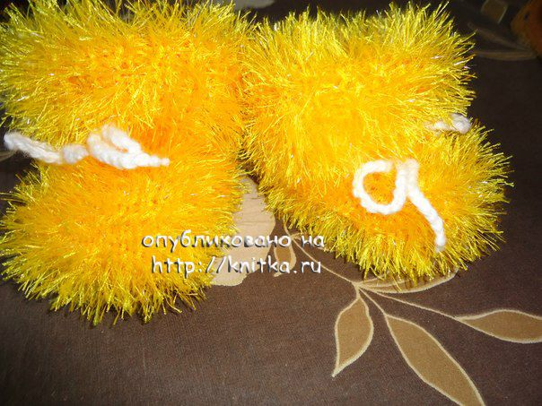 Вязание спицами из травки тапочки 37