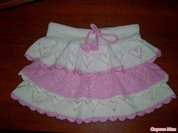 фото вязаной юбки спицами