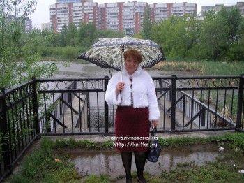 фото платья связанного спицами