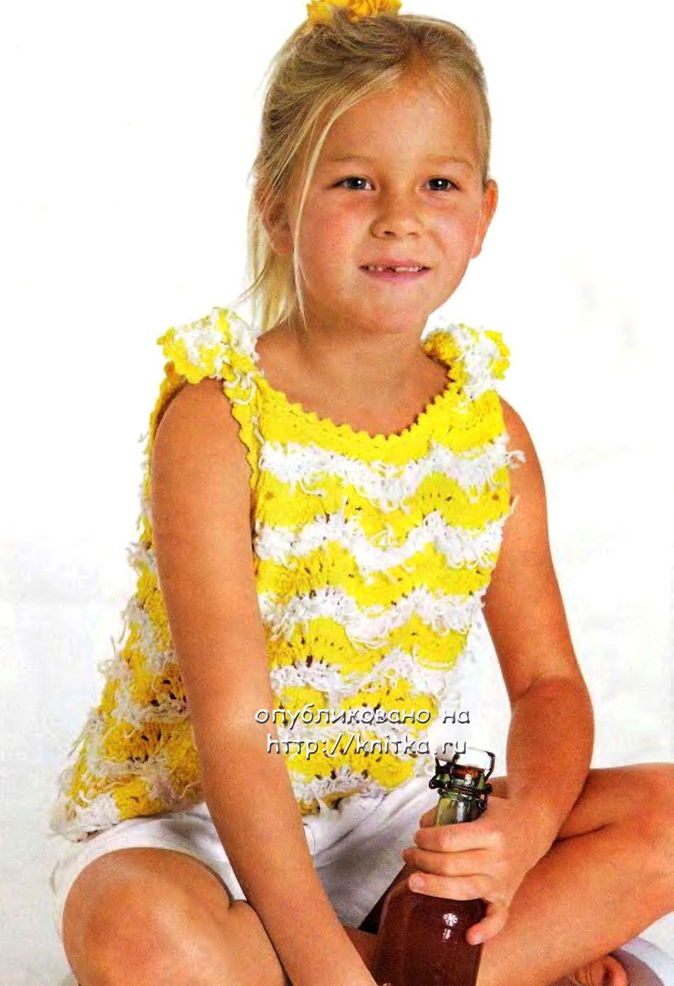 Вязание детям летние модели