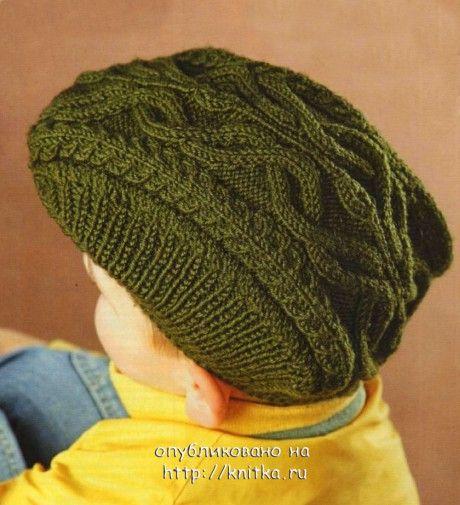 фото кепки для мальчика спицами