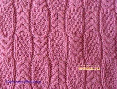 фото вязаного спицами жилета