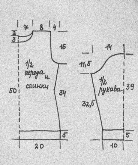 схемы узоров туники