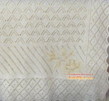 фото вязаного спицами палантина