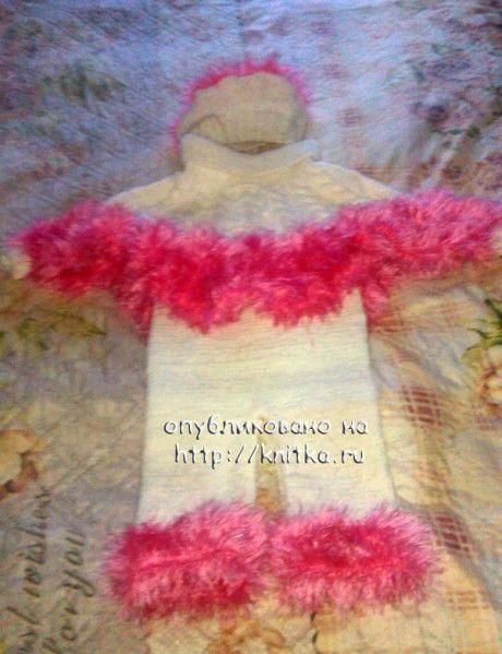 фото вязаного спицами пончо
