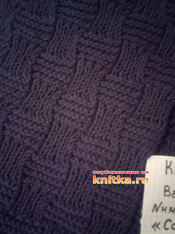 Вязаный шарф - лиса крючком: описание