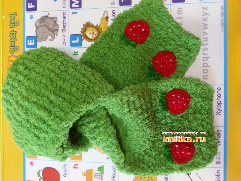 вязание шарфа для детей