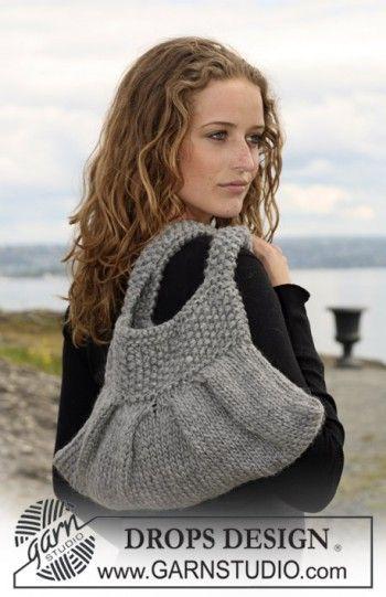 фото вязаной спицами сумочки