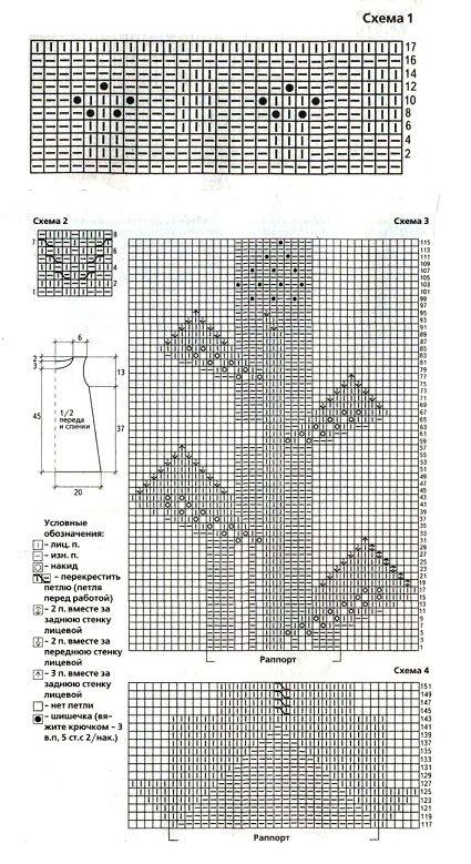 схема вязания платья