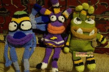 Вязаные игрушки - работы Татьяны. Вязание спицами.