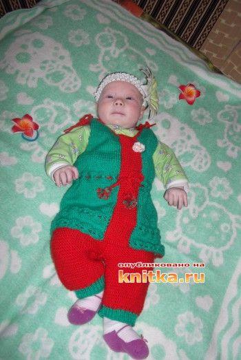 фото вязаного костюма спицами