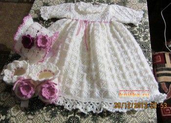 платье для девочки спицами фото