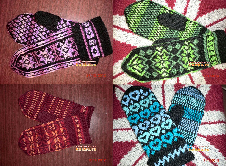 Вязанные спицами носки. Работы Ибрахимкажы