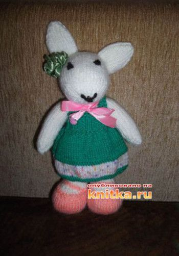 фото вязаной спицами игрушки