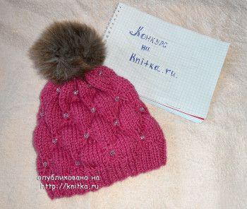 Вязание спицами шапочки для девочки. Вязание спицами.