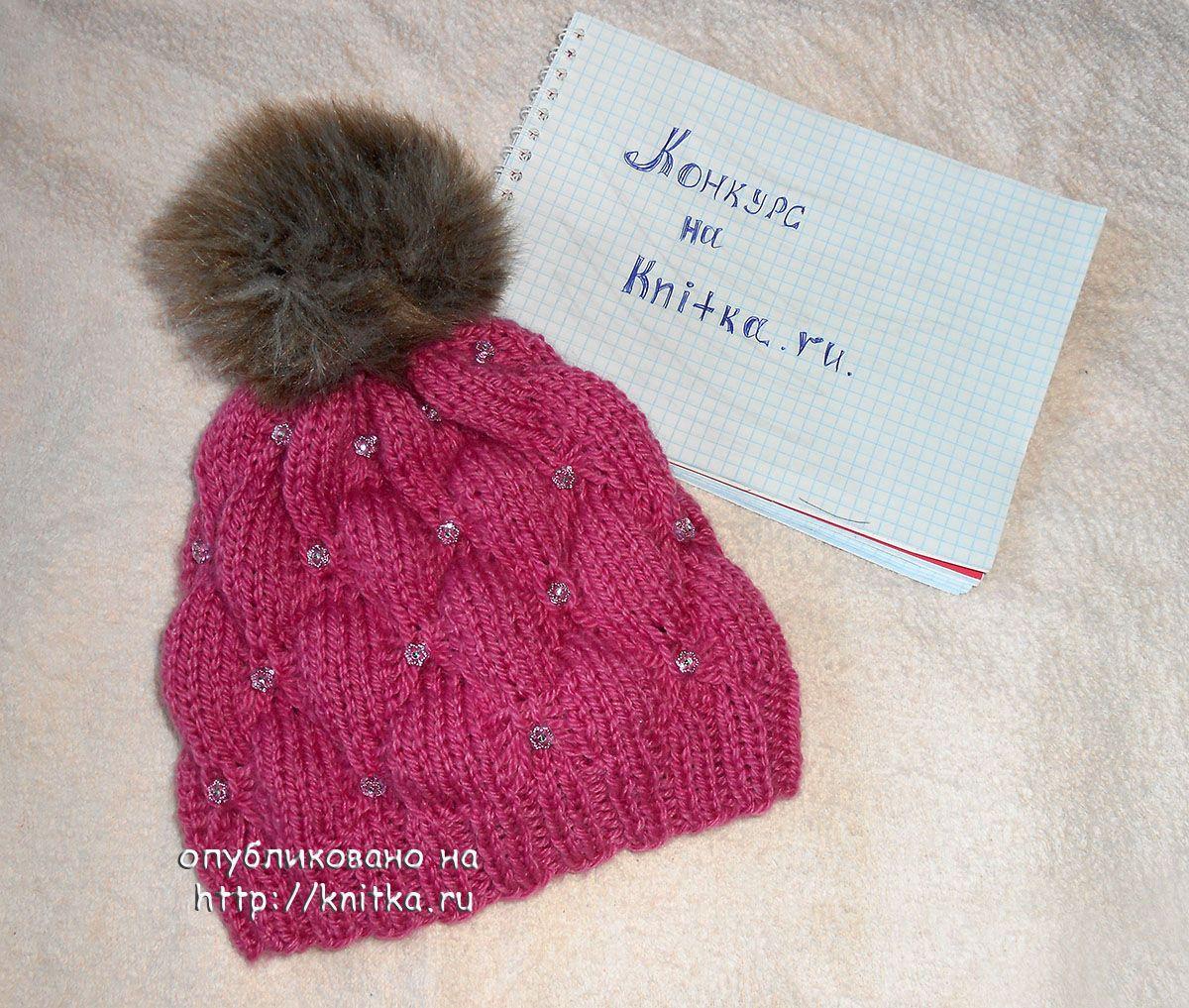 Вязаные шапки для девочек схемы спицами.