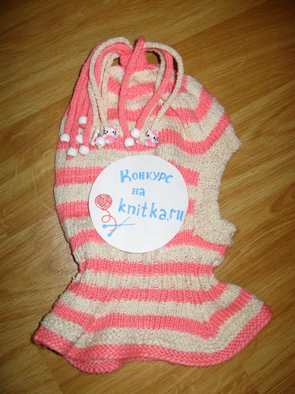 описание и схема детской вязаной шапочки-скафандра